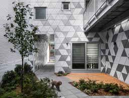 home courtyard leed seeking brick building in montreal hides funky crystalline
