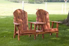 Luxcraft Porch Rocker Amish Yard Cedar Lounge Chair Table Combo From Dutchcrafters Amish Furniture