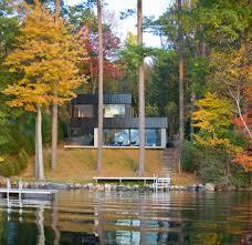 inspiring modern refuge in vermont cantilever lake house