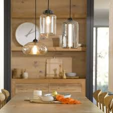 terrific kitchen pendant light fittings using clear glass lamp