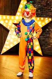 Clown Halloween Costume Kids Unisex Motley Clown Halloween Costume Circus Juggler Dress
