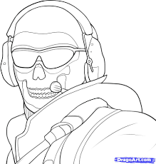 black ops ghost mask how to draw ghost modern warfare step by step video game