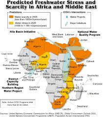 middle east map united nations predicted freshwater stress and scarcity in africa and the middle