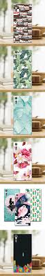table leaf bag protector for sony xperia xz dual f8332 f8331 xr case mermaid painting soft