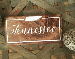 state wood tennessee state etsy