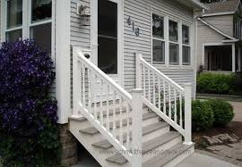 Outdoor Banisters And Railings Railings Iron Aluminum Vinyl U0026 Pvc All4fencing