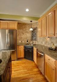 Kitchens With Light Cabinets Contemporary Kitchen Birch Cabinet Design Pictures Remodel