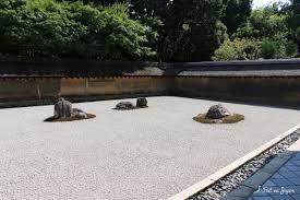 ryōan ji temple zen garden with 5 small islands of 15 stones kyoto