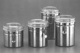 stainless steel kitchen canisters manufacturer exporter in vasai