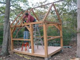 timber framing tiny house cabin small home fort shed cottage