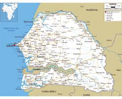 Gambia Africa Map by Maps Of Senegal Detailed Map Of Senegal In English Tourist Map