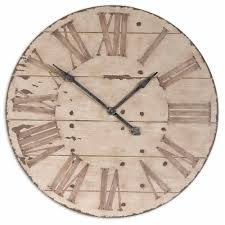distressed provence wall clock roman numerals
