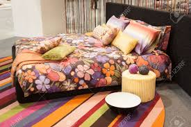 milan italy january 20 missoni bed linen on display at homi