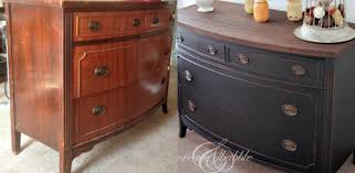 Black Dresser And Nightstand 15 Painted Furniture Makeovers You U0027ll Love Porch Advice
