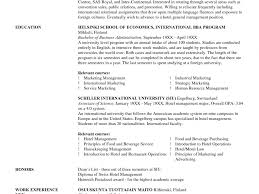 Best Resume For Hotel Management by Sample Resume Of Hotel And Restaurant Management Student Templates