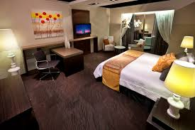bedroom with brown carpet including dark modern ideas picture
