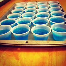 blue raspberry blue wave and berry blue jello jello o shots