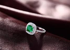2 carat halo engagement ring 2 carat princess cut emerald and halo engagement