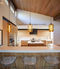 Island Pendant Lights For Kitchen Kitchen Island Pendant Lighting Emits Golden Glow In Sun Valley