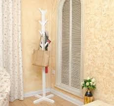 wholesale european style white black coatrack 100 wood coat