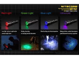 nitecore srt7gt flashlight white red blue green and uv leds