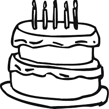 birthday cake coloring page free download