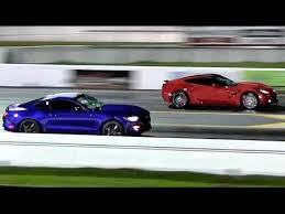 mustang stingray 2014 2015 mustang ecoboost vs 2014 corvette 1 4 mile drag race