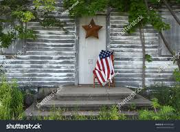 Front Porch Flag Pole American Flag On Wooden Chair On Stock Photo 441281536 Shutterstock
