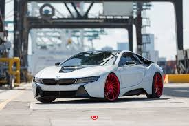 futuristic cars bmw white pearl futuristic bmw i8 on red forged custom wheels u2014 carid