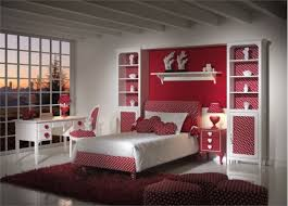 bedroom incredible design for teen bedroom using wall mounted red