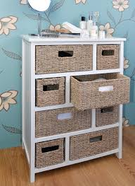 White Bedroom Drawer Units Tetbury Large Chest Of Drawers With Whitewash Baskets White
