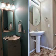 Diy Powder Room Remodel - spray paint used to update a brass toilet paper holder powder