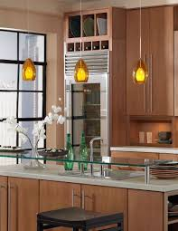 Glass Pendant Lights For Kitchen by Kitchen Modern Contemporary Kitchen Idea With Brown Wooden Kitchen
