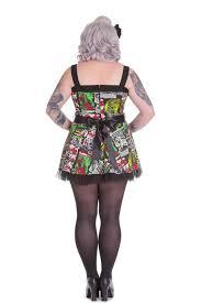 hell bunny plus size b movie monster horror tulle mini dress new