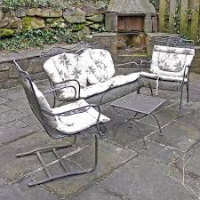 Metal Patio Furniture Sets Four Metal Patio Furniture Set Ebth
