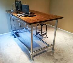 diy pipe desk plans diy stand up adjustable desk manitoba design good stand up