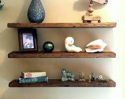 wood floating shelf etsy