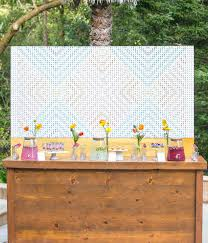 wedding backdrop board colorful california wedding inspiration beverage bars summer