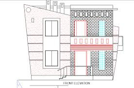 Two Level Floor Plans Two Level Bungalow With Facades And Dimensions 2d Dwg Design