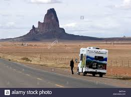 Arizona cruise travel images Female tourist and cruise america rv campervan monument valley jpg