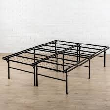 zinus high profile smartbase queen metal bed frame hd sb13 18q