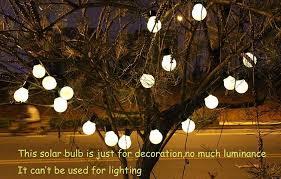 solar power 20 bulb led festoon globe ball string light christmas