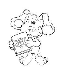 blues clues coloring pages with a book coloringstar