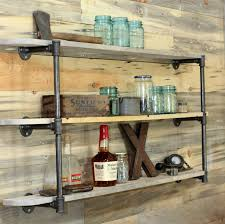 Woodworking Wall Shelves Plans by Reclaimed Wood And Metal Wall Shelves
