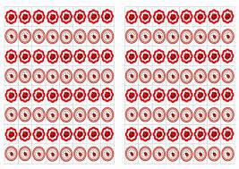 ladybug stickers u2013 birthday printable
