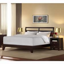 double size white laminated low profilecheap platform bed frame