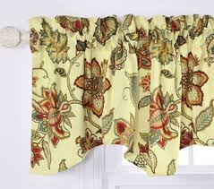 Coral Valance Curtains Celine Coral Jacobean Lined Valance Curtain Curtain U0026 Bath Outlet