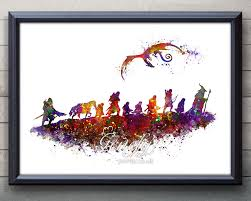 lord of the rings the fellowship of the ring watercolor art