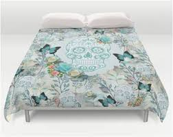 turquoise skull butterfly and roses sugar skull bedding u2013 sugar