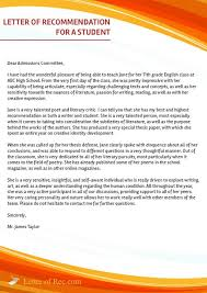 100 letter of recommendation college admission college